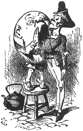 This is not an acclamation. John Tenniel illustration from 'Alice's Adventures Through the Looking Glass.'