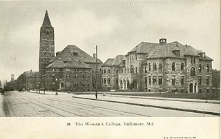 The Women's College, Baltimore 1905. Public domain photogtaph via wikimedia commons, original at Groucher college digital library.