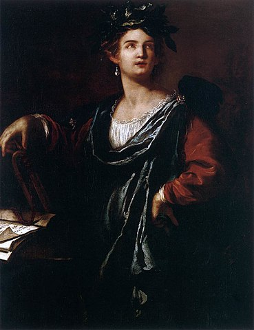 'Clio, the Muse of History' by painter Artemisia Gentileschi.