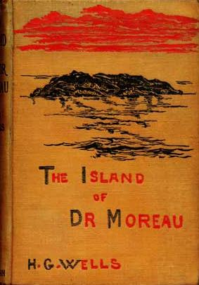 First edition of H.G. Wells' *The Island of Dr. Moreau*, courtesy of wikimedia commons.