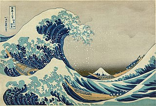 Tokitaro's famous painting, Great Wave Off Kanagawa, circa 1830.