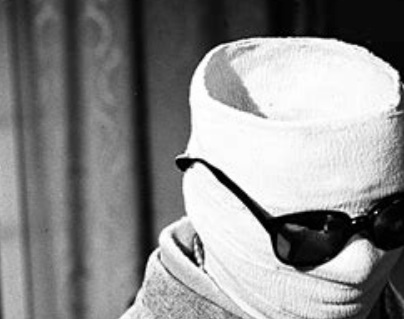 Segment of a still from the 1933 James Whale movie of H.G. Wells' novel, 'The Invisible Man.'