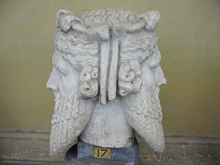 Roman era representation of the deity Janus, one of the Roman deities of liminality, in his case the hinge between the new and old year.