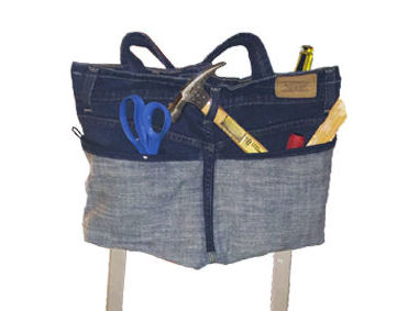 Jean tool caddy from OCDMaker's corner of the instructables website.