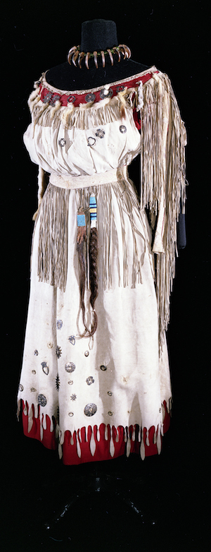 Pauline Johnson's famous 'Native' costume for her performances, courtesy of the museum of vancouver via canadian geographic.