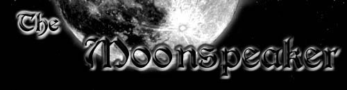 Title graphic of the Moonspeaker website.