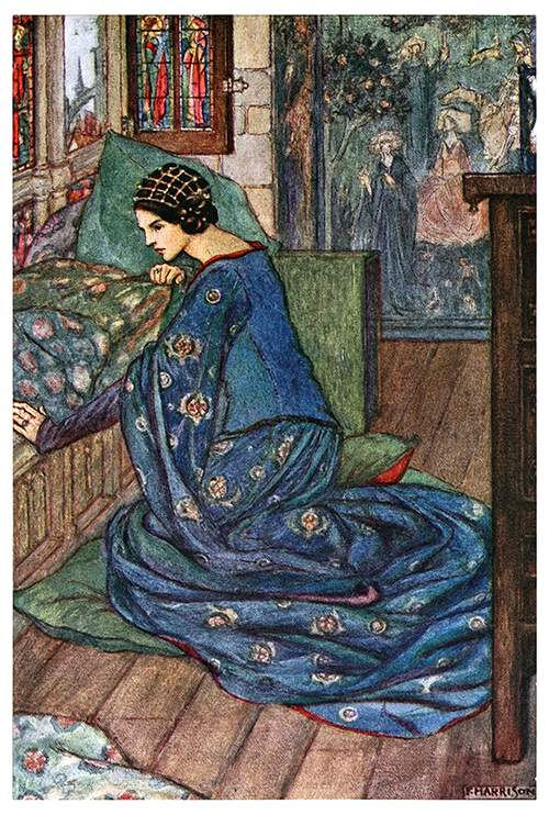 Illustration by Florence Harrison from a book of poetry by none other than William Morris.