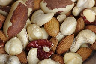 Photograph of mixed nuts courtesy of Sage Ross via wikimedia commons.