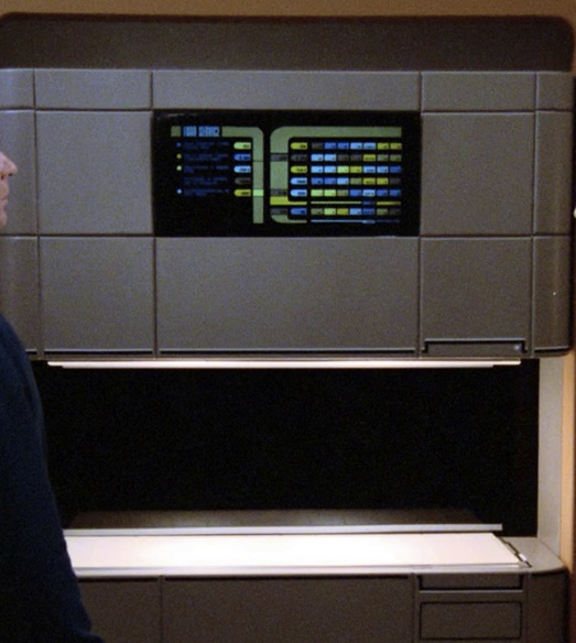 A galaxy class replicator prop image, courtesy of Memory Alpha.