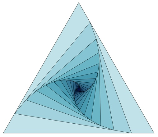 Triangle diagram generated using TeX coding by Alain Matthes.