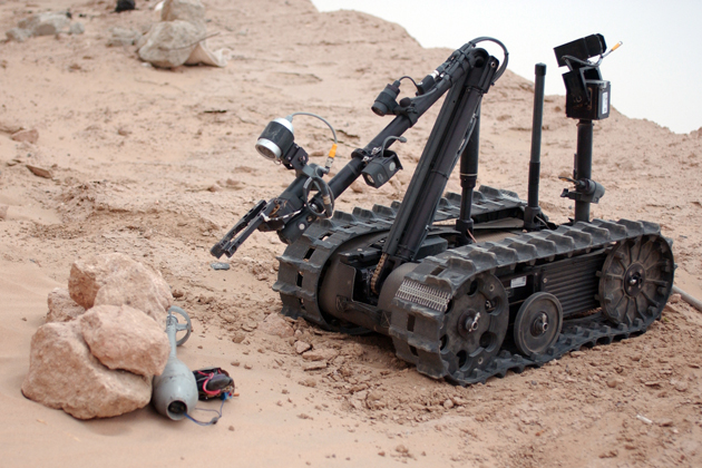 Photograph of a 'talon' series robot courtesy of the u.s. army research laboratory.
